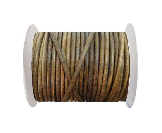 Round Leather Cord - SE. Vintage Taupe  -4mm