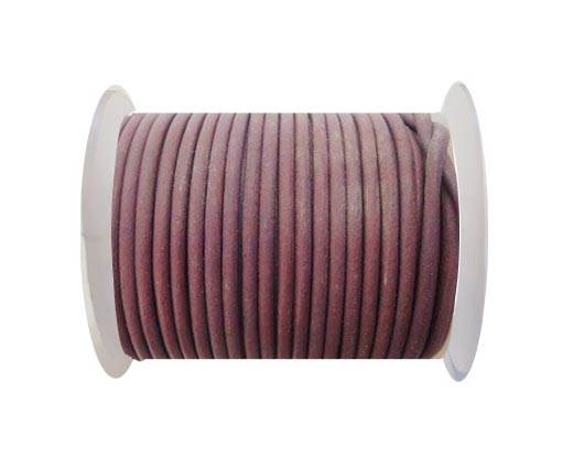 Round Leather Cord - SE.Violet  - 3mm