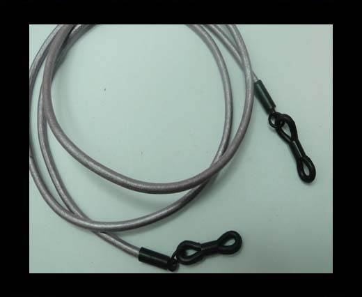 Buy Round Leather Glass Hangers - 3mm -METALLIC PURPLE at wholesale prices