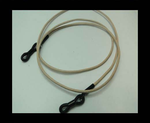 Buy Round Leather Glass Hangers - 3mm -NATURAL at wholesale prices