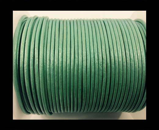 Buy Round leather cord-2mm-metallic pastel green at wholesale prices