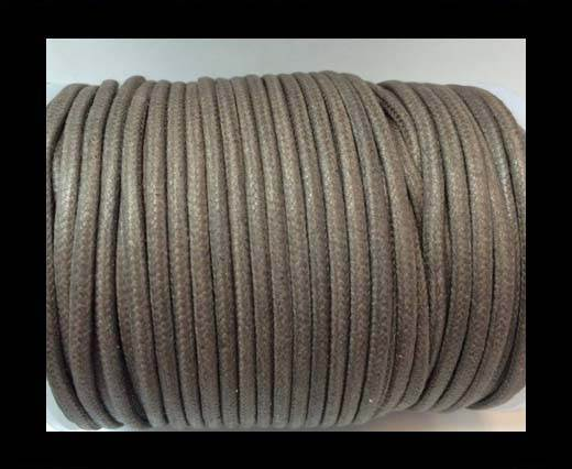 Round Wax Cotton Cords - 3mm  - Dark Grey