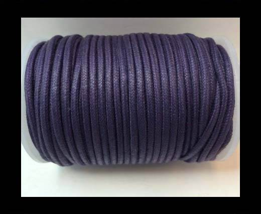 Round Wax Cotton Cords - 3mm  - Lavender1