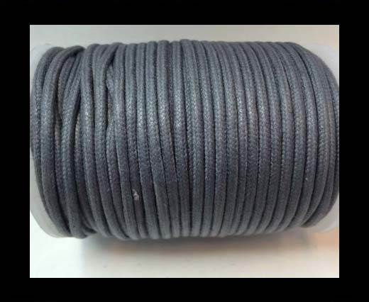 Round Wax Cotton Cords - 3mm  - Steel Grey