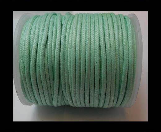 Round Wax Cotton Cords - 2mm - Aquamarine