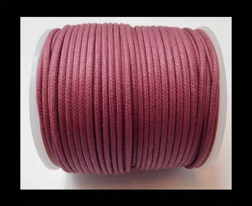 Round Wax Cotton Cords - 2mm - Fuchsia