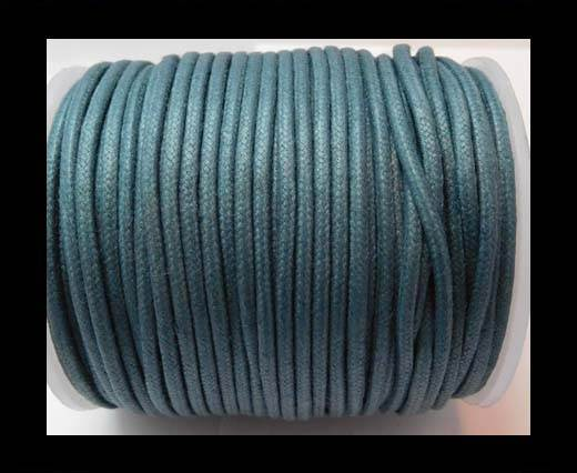 Round Wax Cotton Cords - 2mm - Ink Blue