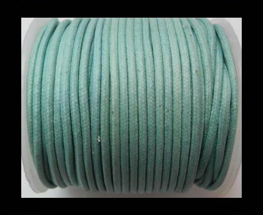 Round Wax Cotton Cords - 2mm - LT Turquoise