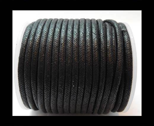 Round Wax Cotton Cords - 3mm - Black