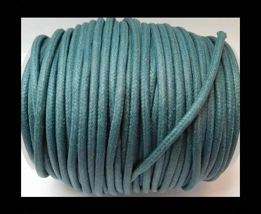 Round Wax Cotton Cords - 3mm - Ink Blue