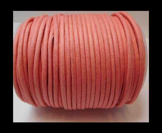 Round Wax Cotton Cords - 3mm - Pink