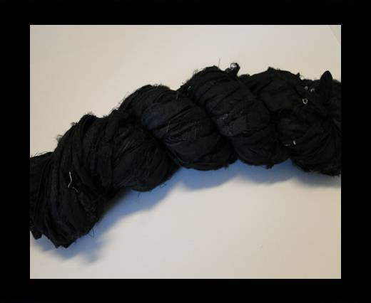 Sari Silk Ribbon-Black