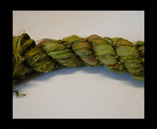 Sari Silk Ribbons-Nile Green