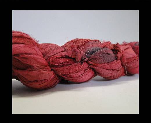 Sari silk ribbons- Bright red