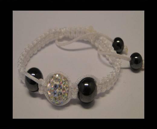 Shamballa Bracelet SB-Crystal-White-Style-4