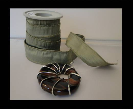 SC-Silk-Ribbon-Shiny Khaki