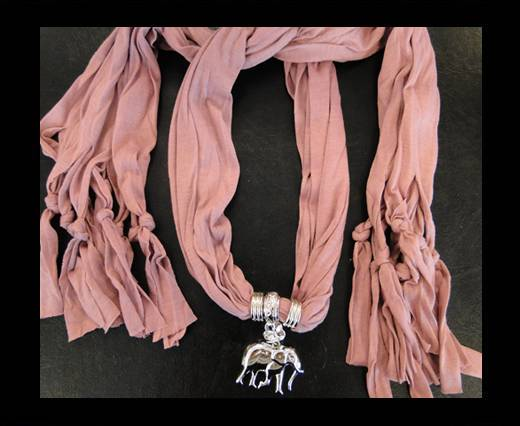 Scarf With Beads Style3-Pink