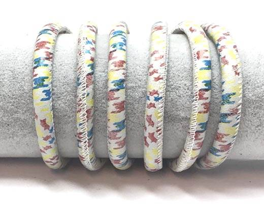 Real Round Nappa Leather cords 6mm-Scottish Print 6