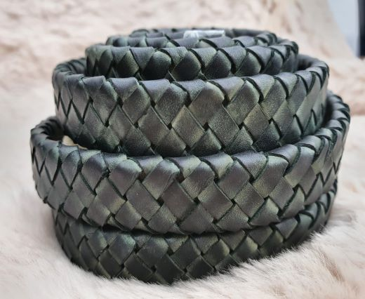 Oval Braided Leather Cord-15.5 by 4.5mm-se_pb_11