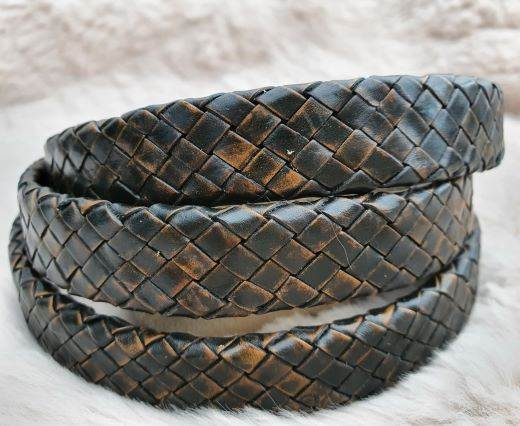 Oval Braided Leather Cord-19mm-se-pb-11