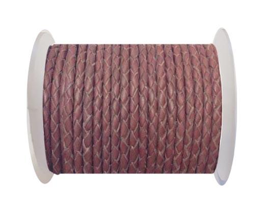 Fine Braided Nappa Leather Cord-SE-24-4mm