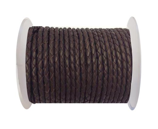 Fine Braided Nappa Leather Cord-SE-18-4mm