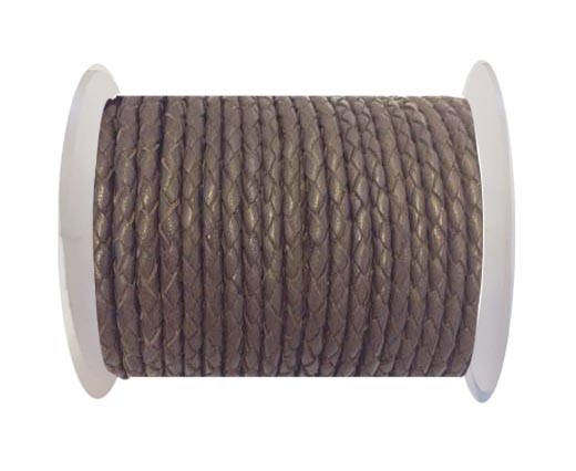 Fine Braided Nappa Leather Cord-SE-03-4mm