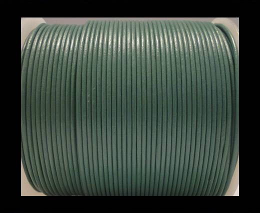 Round Leather Cord SE/R/30-Light Forest Green - 3mm
