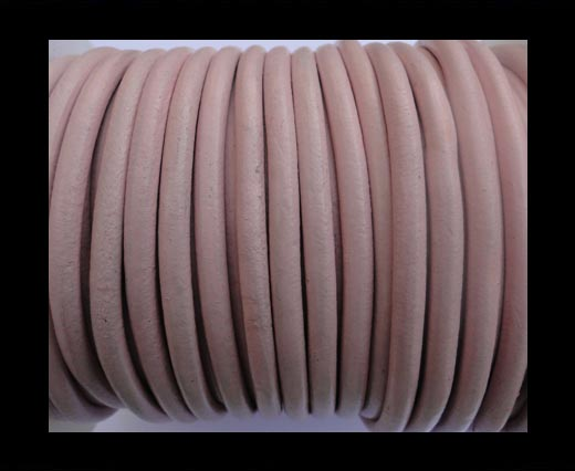 Round Leather Cord SE- Light Pink-5mm