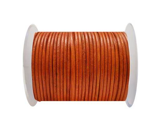 Round Leather Cord SE/R/Orange - 3mm