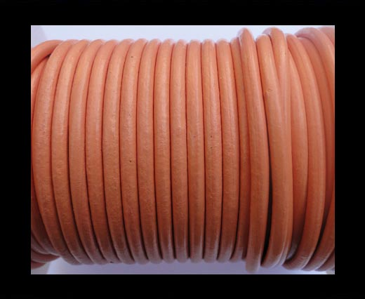 Round Leather Cord SE/R/Orange - 4mm