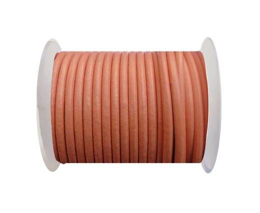 Round Leather Cord SE/R/Orange - 5mm