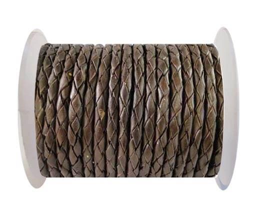 Round Braided Leather Cord SE/M/Taambaa - 6mm