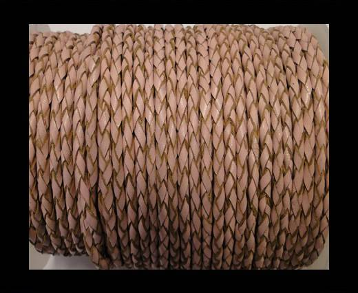 Round Braided Leather Cord SE/B/2006-Salmon-6mm