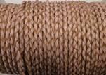 Round Braided Leather Cord SE/B/2006-Salmon-8mm