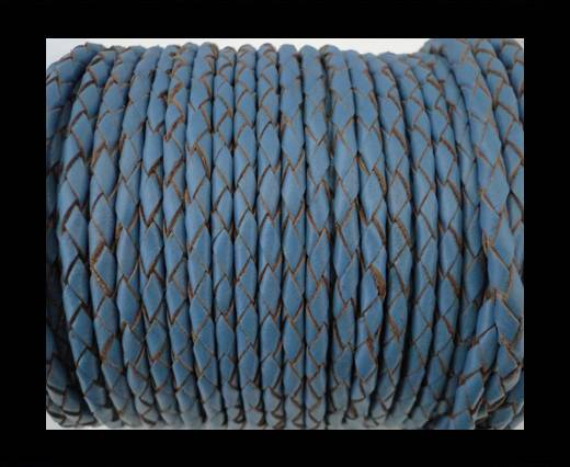 Round Braided Leather Cord SE/B/2024-Jeans