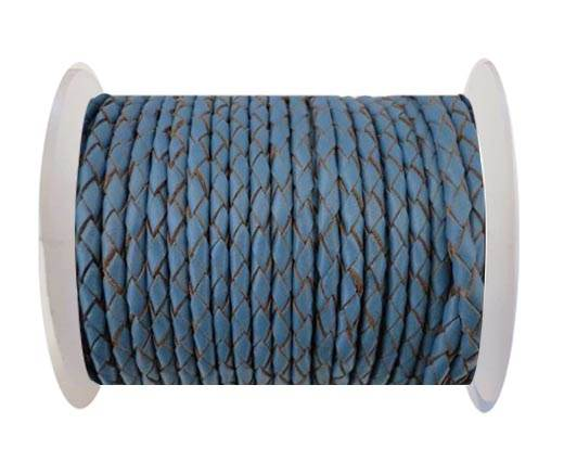 Round Braided Leather Cord SE/B/2024-Jeans-4mm
