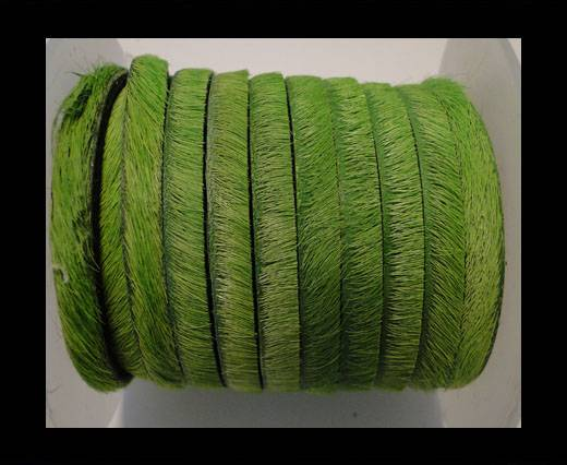 Buy Hair-On Flat Leather-Light Green-5MM at wholesale prices