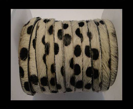 Buy Hair-On Flat Leather-Dalmatian-5MM at wholesale prices