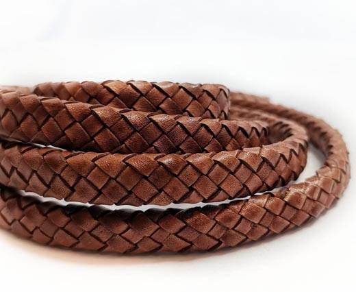 Round Braided Leather Cord - 12mm - SE_PB 10