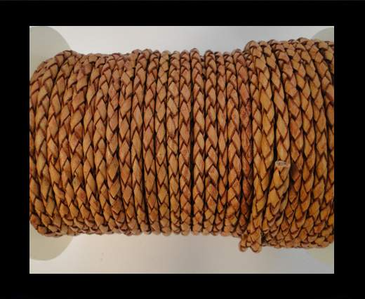 Round Braided Leather Cord SE/PB/14-Mahogany - 4mm