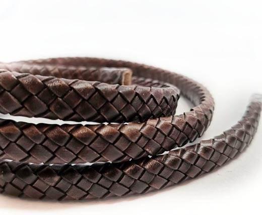 Round Braided Leather Cord - 12mm - SE_PB 17