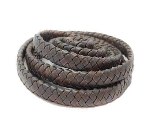 Oval braided cords-8*3.5mm-SE PB DARK GREY