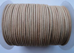 Round Leather Cord SE/R/01-Natural - 4mm