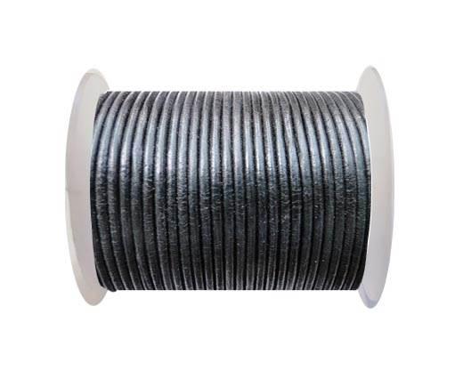 Round Leather Cord SE/R/02-Black - 5mm