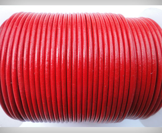 Round Leather Cord SE/R/05-Red - 2mm