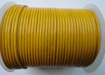 Round Leather Cord SE/R/07-Yellow - 1,5mm