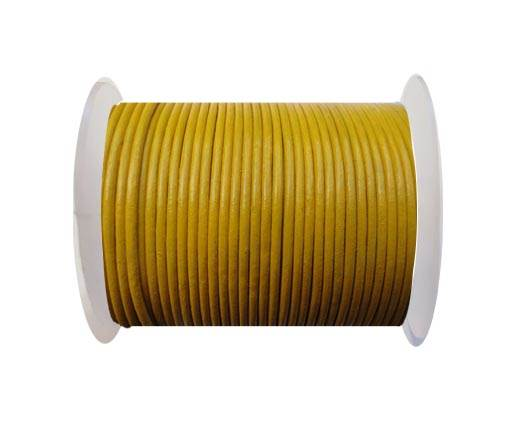 Round Leather Cord SE/R/07-Yellow - 2mm