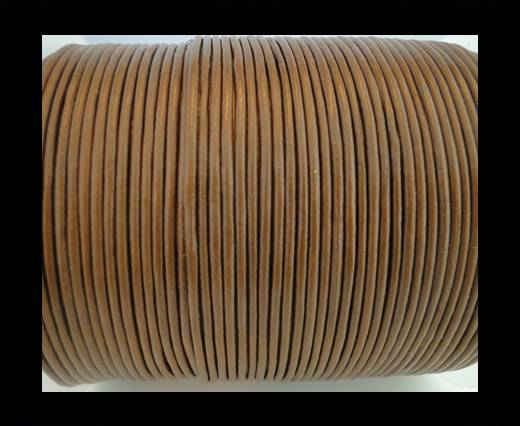 Round Leather Cord SE/R/14-Hazelnut-2mm