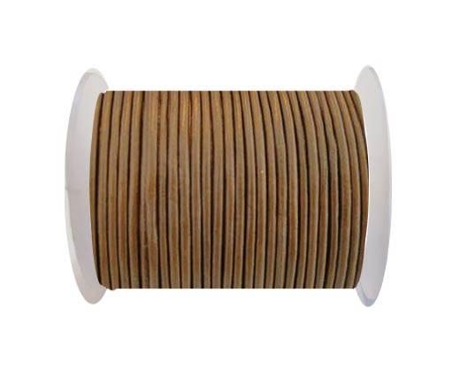 Round Leather Cord SE/R/14-Hazelnut-2mm